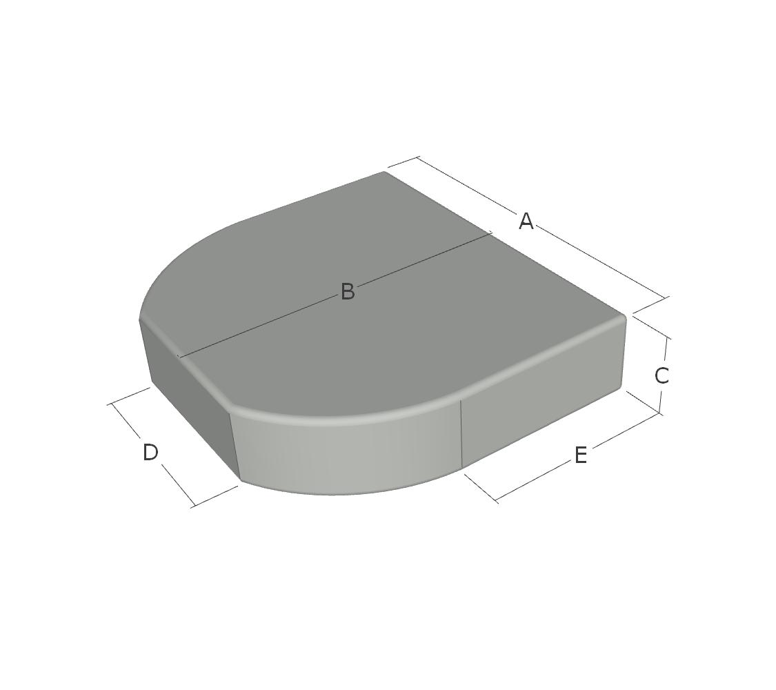 Espuma Semicircular Recta